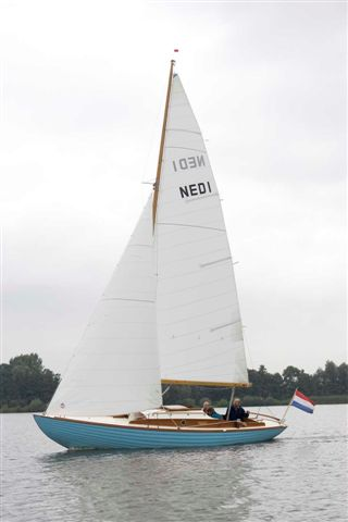WK Proefvaren met de redactie folkboat Marina met zeilmaker Cees van Vliet